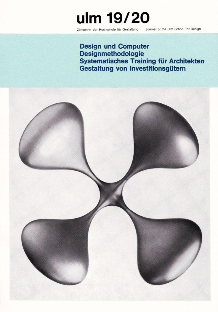 ULM 19/20. Diario Ulm Hochschule für Gestaltung. Agosto,1967. Editor: Gui Bonsiepe.