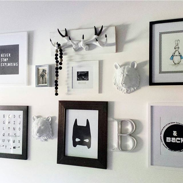 What a cool 'gallery wall' by @lilyandspiceinteriors.  The three prints at the bottom are from our monochrome collection available to buy from our web page (link in profile).  #galleryydesigns #gydprint #kidsroom #kidsroomdecor #kidsinterior #batmanprint #gallerywall #monochromeroom #monochromeprint #monochromeart #monochromedecor #monochromeinterior #monochromekidsroom