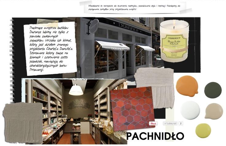 pachnące wnętrza sklepów Durance, zobacz moodboard, kup świecę!