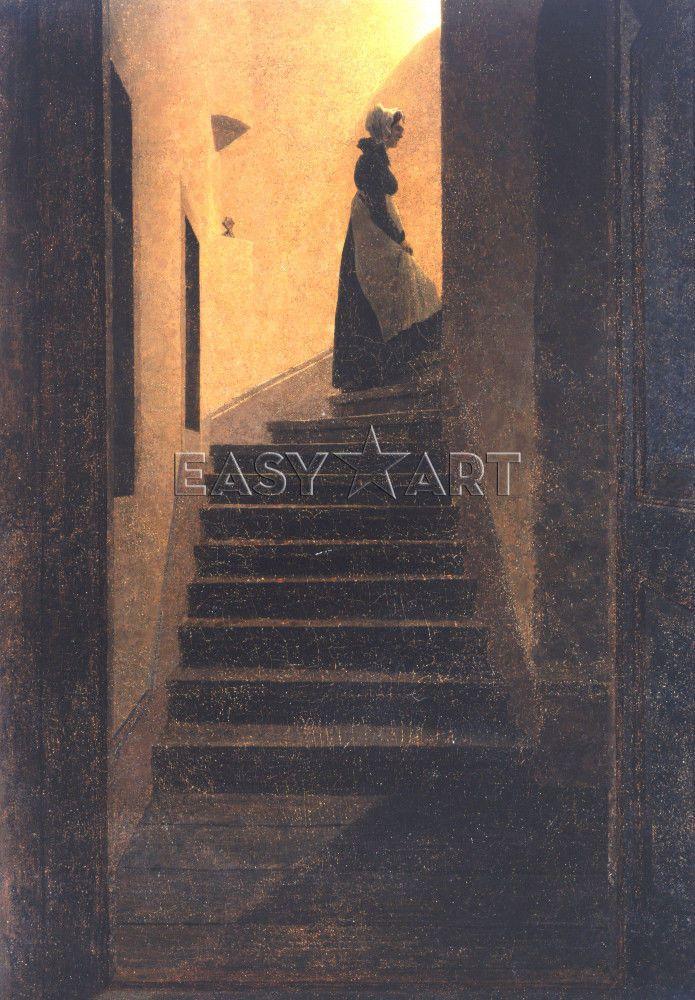 Caroline Auf Der Treppe. Caroline On The Stairs, 1825