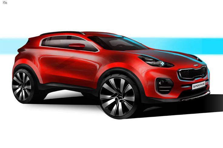 В компании Kia представили первые официальные иллюстрации, посвященные новому кроссоверу Sportage. Автомобиль дебютирует в середине сентября на автосалоне во Франкфурте.