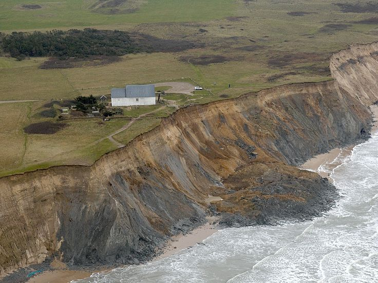 The Church of Mårup, Denmark (on eroding cliff)