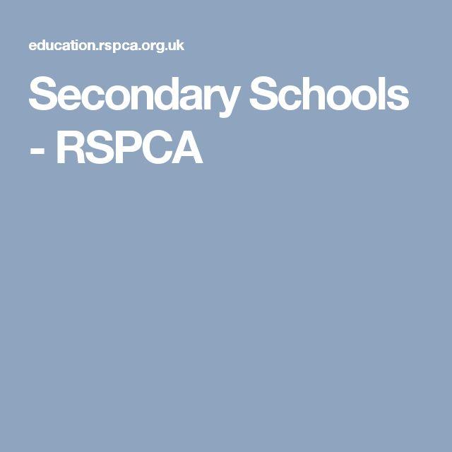 Secondary Schools - RSPCA