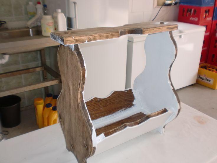 1000 idee n over boenwas op pinterest blauw geschilderde meubels blauw meubilair en krijt - Grijze verf leisteen ...
