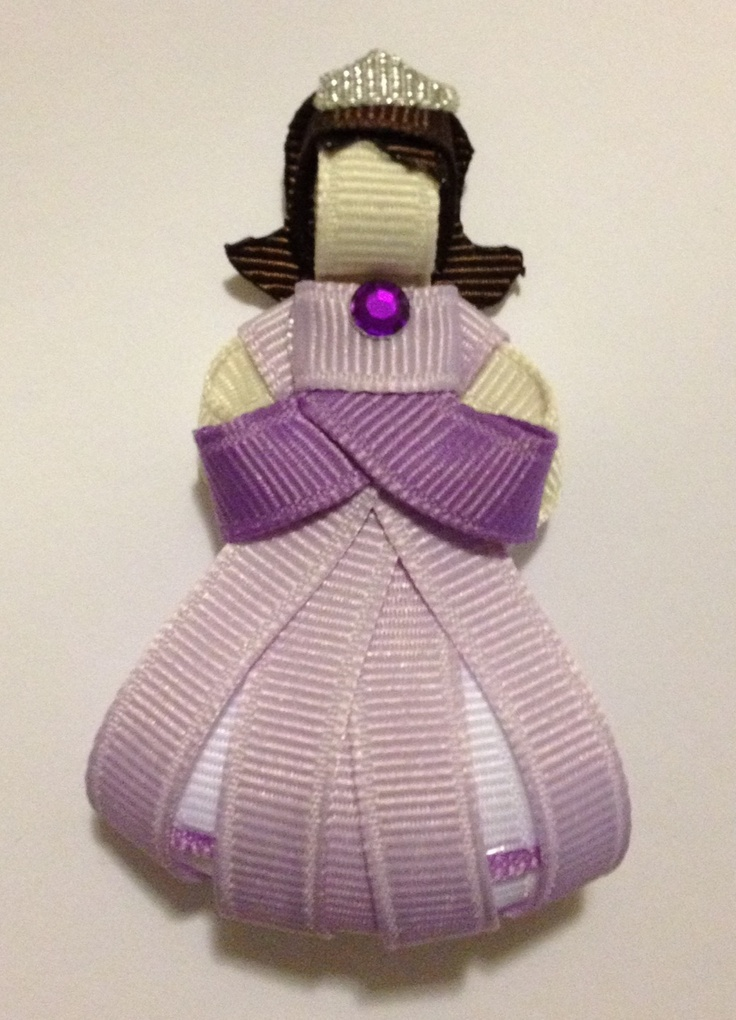 A new princess clip by Baby Bug Wear - Sophia the First Ribbon Sculpture Hair Clip!