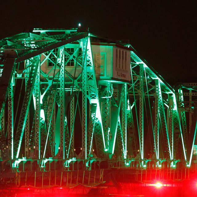 11 best clarksville tn downtown images on pinterest workers set and aimed the led lights on the rj corman railroad bridge tueday night sciox Image collections