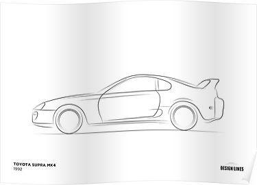 Design Lines - Toyota Supra Mk4 Posters