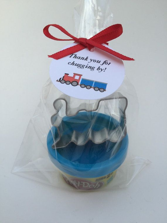 Train Party Favor: Train Theme Favor, Play Doh and Train Cutter Favor, Train Favor