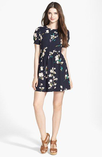 Soprano Short Sleeve Skater Dress (Juniors)