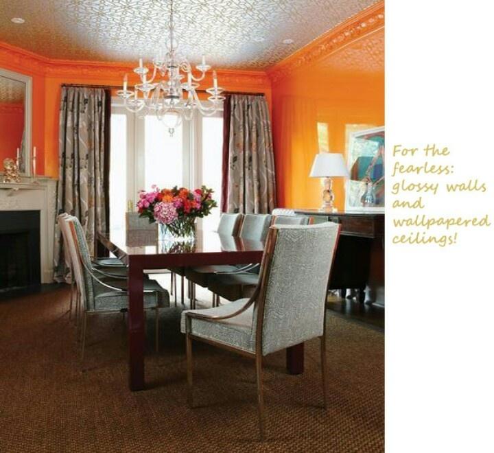 81 best Orange Dining Room images on Pinterest | Orange dining ...