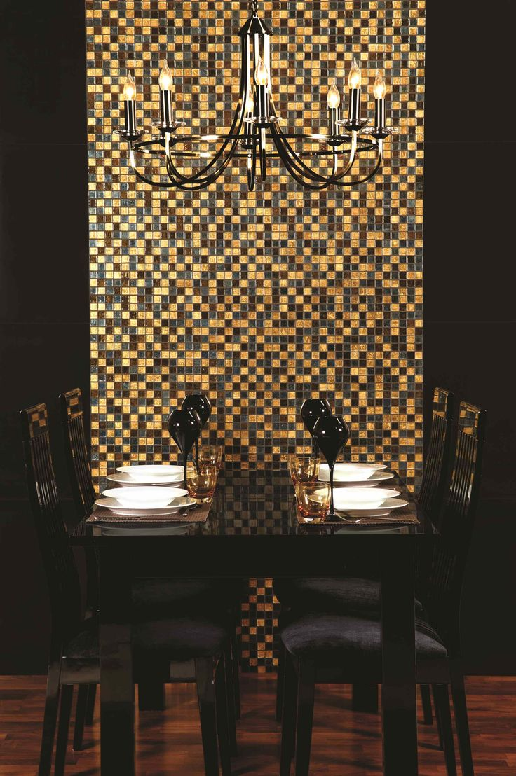 Original Style's dramatic Kasba mosaics are a mix of bronze and gun-metal shades along with real gold in random patterns. Abslolutely the height of luxury!