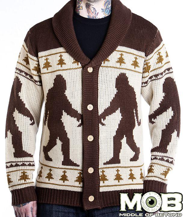 Bigfoot Sasquatch Cardigan from MIDDLEOFBEYOND.COM #middleofbeyond