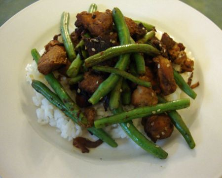Sichuan Chicken with Green Beans (I made it for supper - without the ...