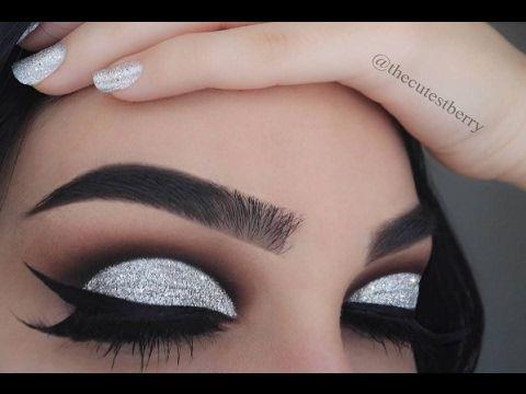 Drugstore Glam: Holographic Glitter Cut Crease - YouTube