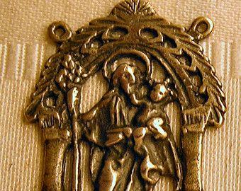 Grandes   Rosario   Centro   San José   Vara de floración   Plata esterlina   Bronce   Religiosa   Vintage   Católica   Centro de mesa   Partes #372