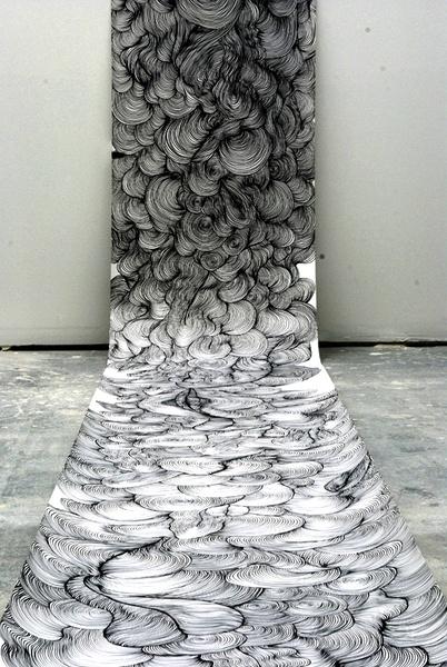 "Sky Kim, ""Untitled,"" (detail), 2010, marker on paper"