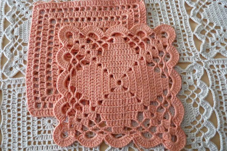 Crochet mamie carrés afghans