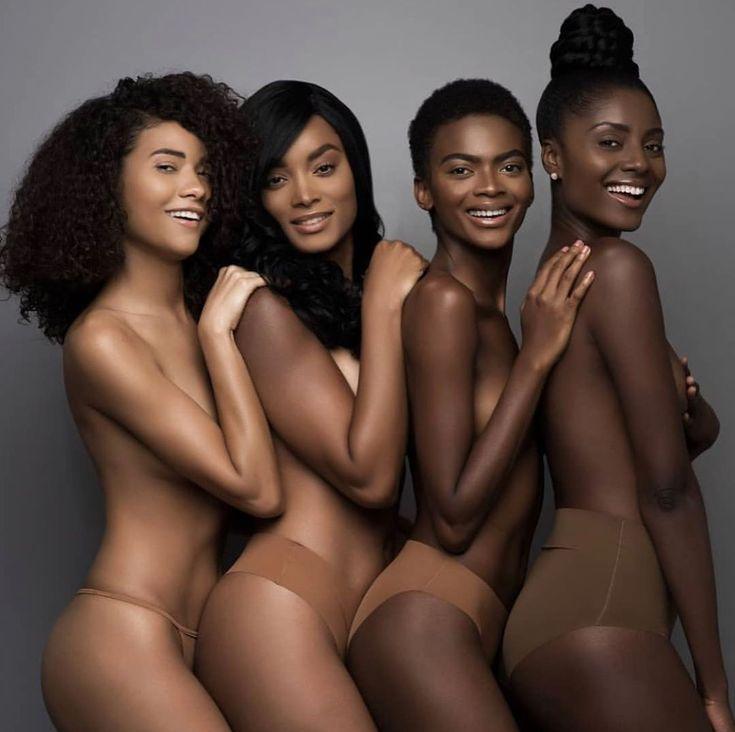 Beautiful black woman naked