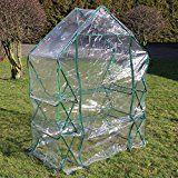 Serre de jardin ou balcon Bâche PVC plastique Abri mini-serre 143x73x195 cm