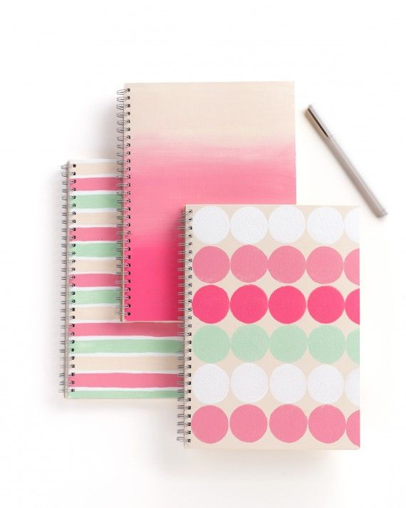 14 DIY projects to spruce up your own school supplies, like painting your own notebooks.