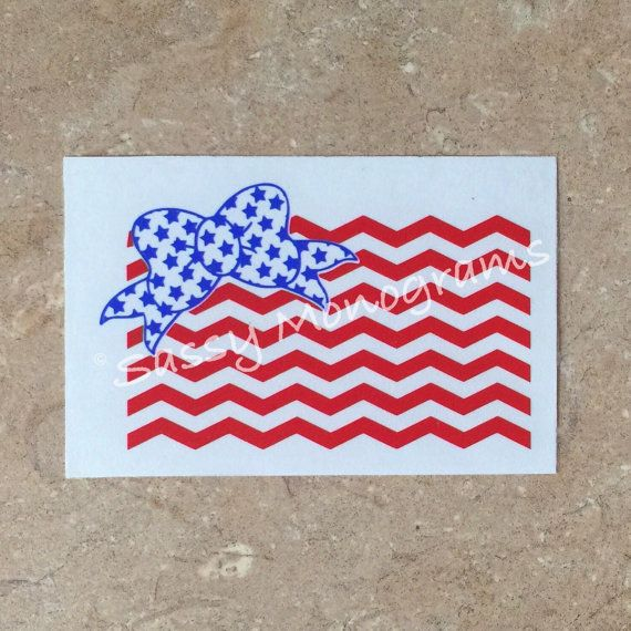American Flag Car Decal Sticker  Quick by SassyMonogramAndMore