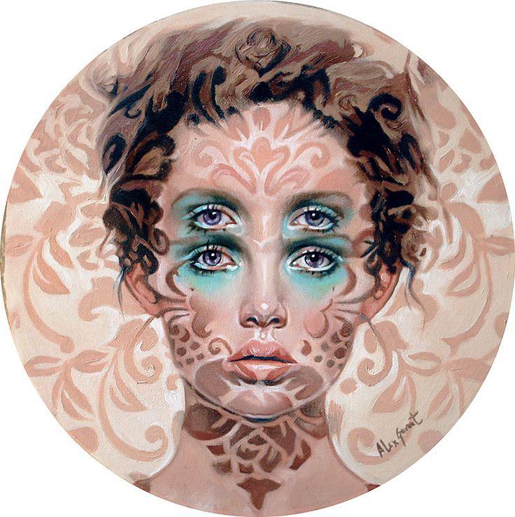 "Quadri Surrealisti Alex Garant - ""The Gaze"" - Olio su tela"