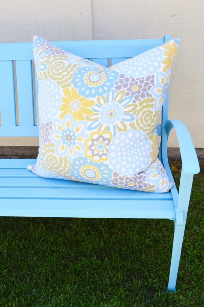 Painting outdoor metal furniture Jardin
