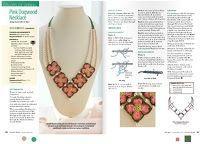 Revista crochet con collar de grannys y perlas