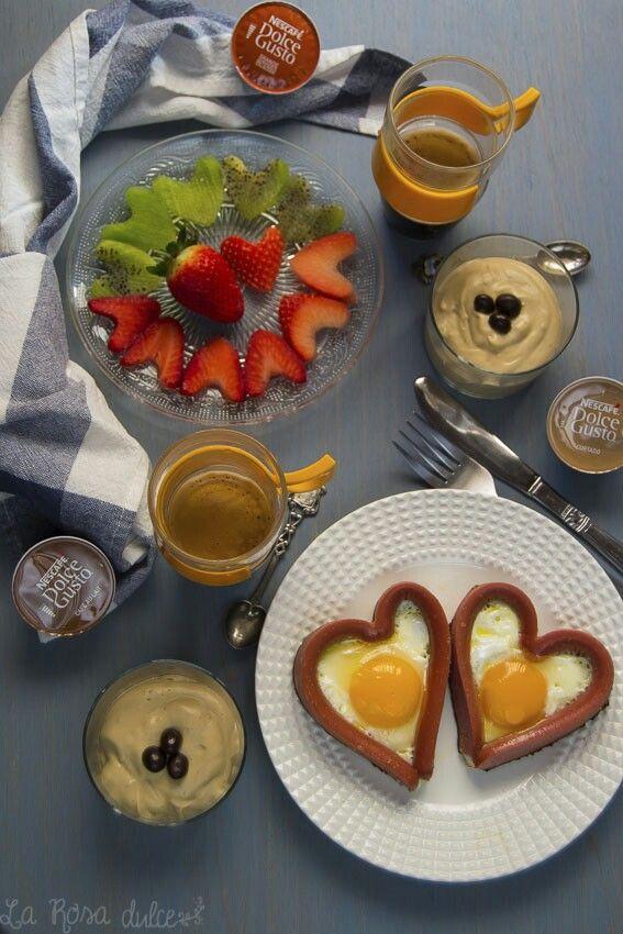 Crema chibaust de café y amaretto, desayuno de San Valentín #singluten #sinlactosa
