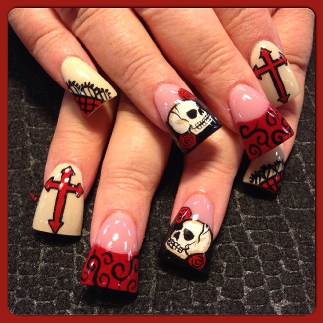 Gel Nail Art Gallery: 17 Best Images About Get Nailed-Gothic On Pinterest
