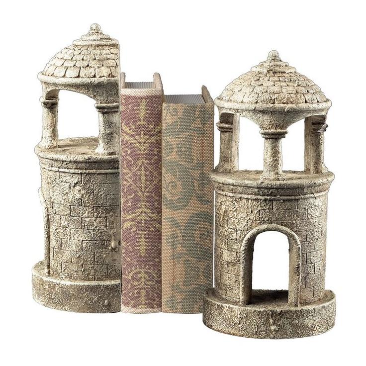 I love these castle Turret Vintage Black Bookends 93-10066/S2