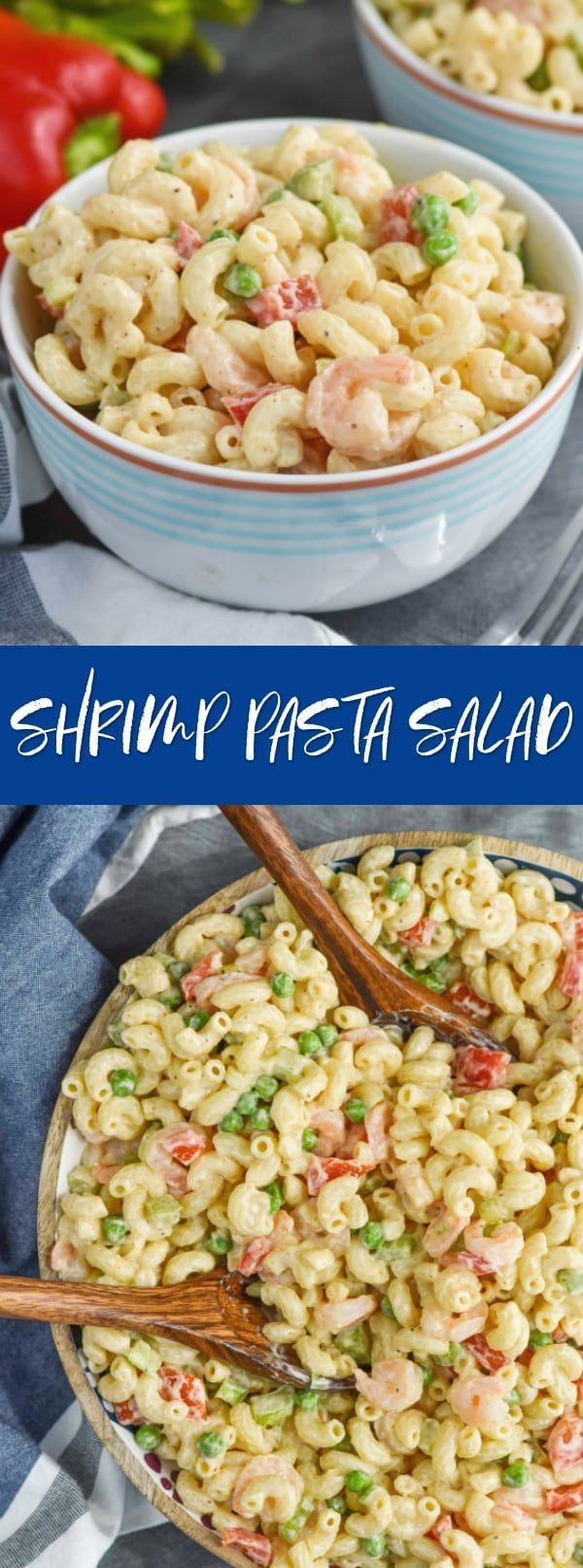 This Shrimp Pasta Salad is the perfect easy weeknight dinner or fast side to bri…   – Pasta Recipes