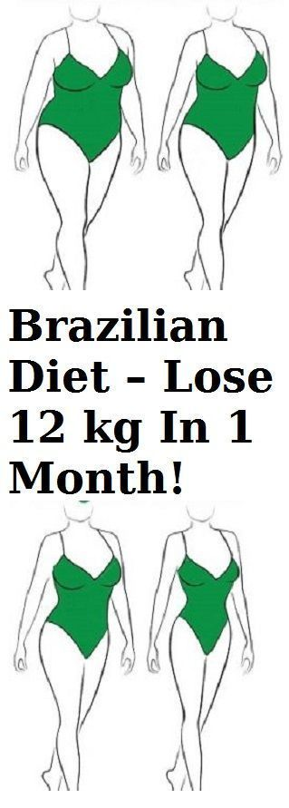 Brazilian Diet :Lose 12 Kg In 1 Month