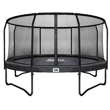 Salta Premium Black Edition trampoline rond met veiligheidsnet - 427 cm - zwart  Kinderen kunnen een hele zomer veilig springen op deze mooie Salta trampoline met veiligheidsnet. De trampoline heeft een diameter van 427 cm.  EUR 459.00  Meer informatie