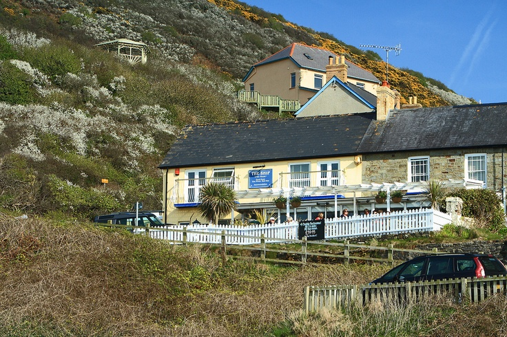 The Ship Inn in Tresaith, Wales. Looks a great place right on the beach.