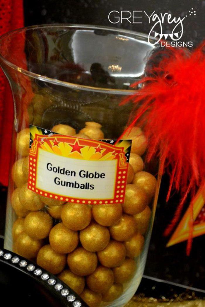 Instead of Golden Globe gumballs we can have golden globe chocolates