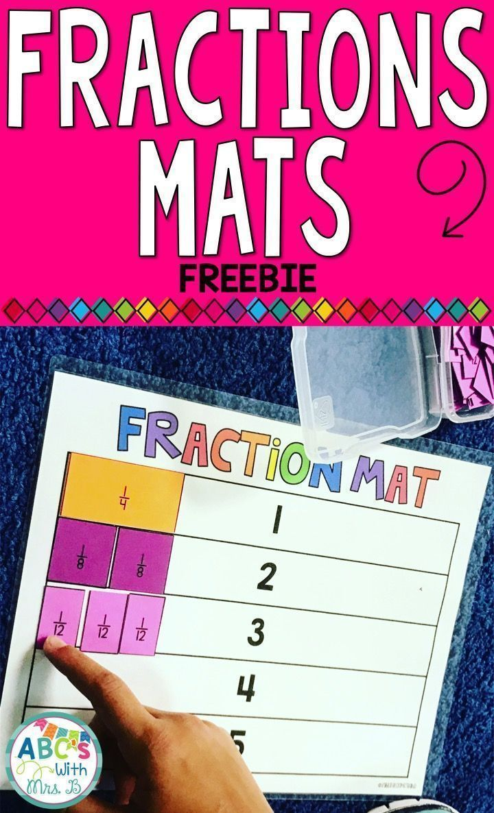 Check out these FREE fraction mats you can use to teach adding, subtracting, multiplying, dividing and finding equivalent fractions! Just bring the pages on different colors and cut them out for student manipulatives!
