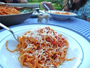 Angel Hair With Zucchini And Tomatoes Recipes — Dishmaps