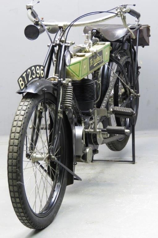 Bradbury 1912 3 ½ HP 554 cc side valve single frame # 38205 engine # 5328 Bradbury & Co. was one of the pioneers of the British motor cycle industry: already in 1902 the company advertised a motorcycle driven by a Minerva clip-on engine. Before motorcycles were being produced at the Wellington Works in Oldham, ... Read more