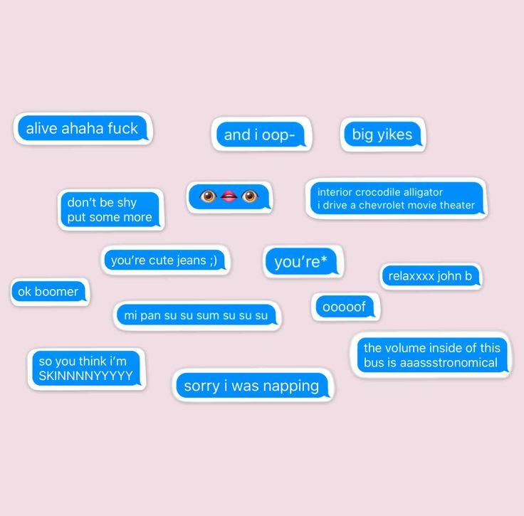 Tik Tok Stickers Text Message Bubbles Memes Funny Gen Z Etsy Text Message Bubble Cute Text Messages Text Messages