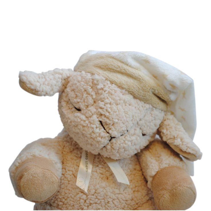 En sovebamse som et får. Dejligt blødt og kan afspille rolig musik og lyde. Kan sættes fast på tremmeseng eller puttes med. En skøn og sød sansebamse