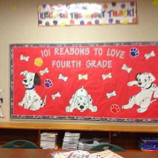101 Dalmatians bulletin board