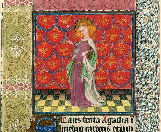 Agatha - NYC Pierpont Morgan Library - Hours of Catharina of Cleves MS M917 pp306-307