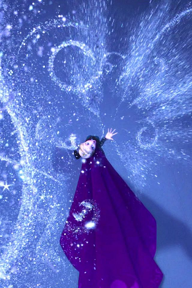 """Let it go, let it go. Can't hold it back anymore. Let it go, let it go. Turn away and slam the door. I don't care what they're going to say. Let the storm rage on, the cold never bothered me anyway."" :)"