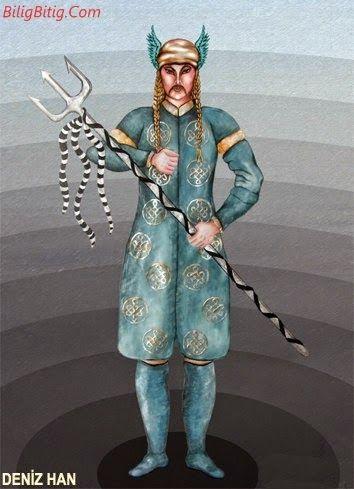 Deniz-Han Türk Mitolojisi Karakteri - Türk Asya - Bilig Bitig, Asian Turkish, Тюрки России