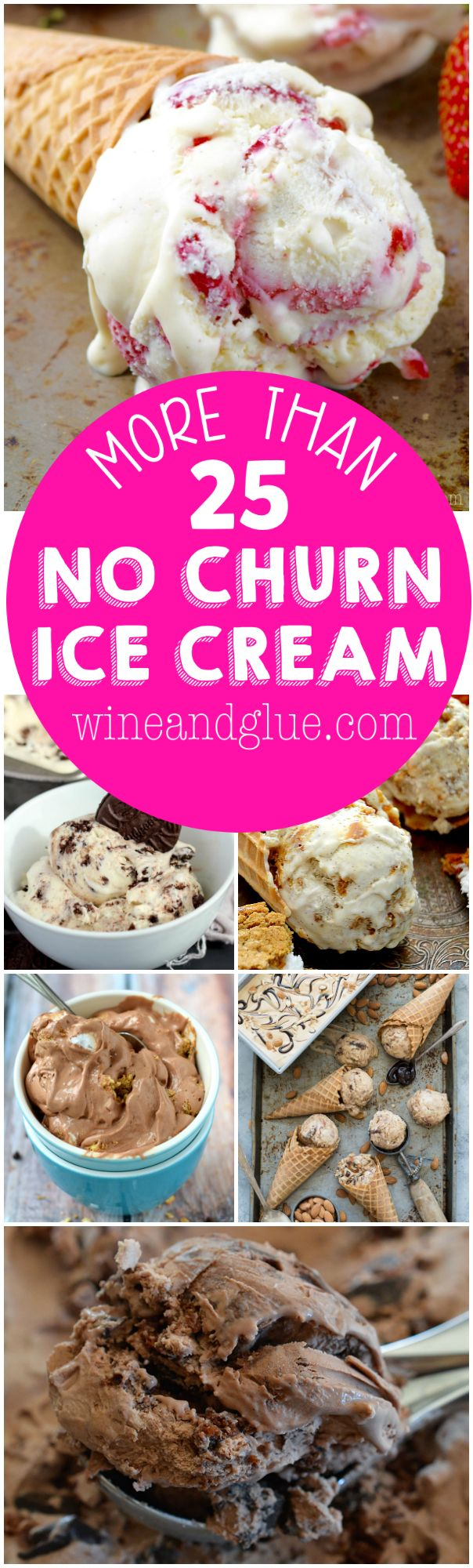 More than 25 No Churn Ice Cream Recipes that are so easy the kids can totally help with them and keep you all cool all summer long!