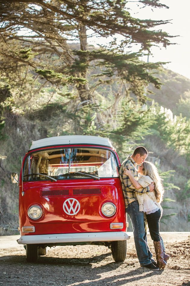 Gotta love that cherry red vw bus! photo by @Anita Martin