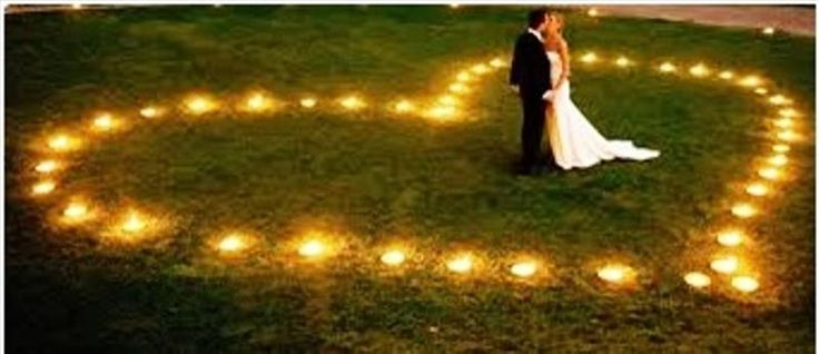 Photo mariage bougie coeur