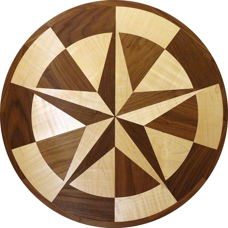 #TexasStar #woodfloorinlay made with Maple and Walnut
