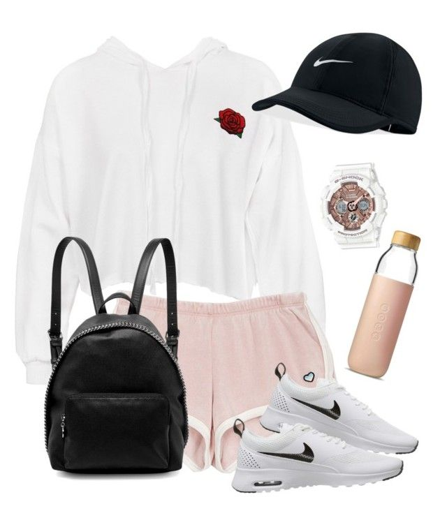 stylish x sporty by mandaliew on Polyvore featuring polyvore fashion style Sans Souci NIKE STELLA McCARTNEY G-Shock Soma clothing